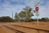 Railway crossing at the Outback