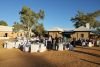 Outdoor dinner with sunset and stars at the old telegraph station Alice Springs